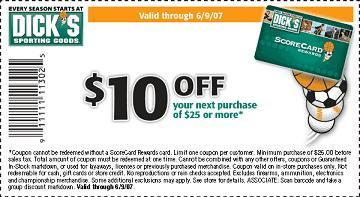 Dick's Sporting Goods promotion