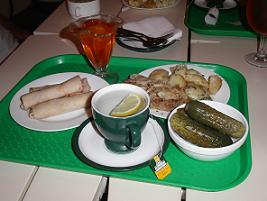 Typical food in Ukraine