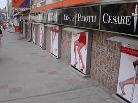 Store front ad boards