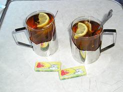 Tea in ukrainian train