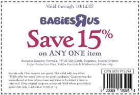 BabiesRUs 15% coupon