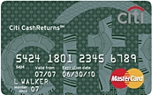 Citi Cash Returns Card