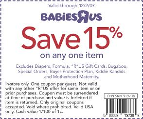 Babiesrus coupon code