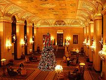 Lobby of Palmer House Hilton in Chicago