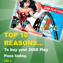 Six Flags 2008 Play Pass