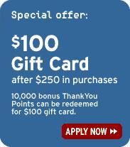 Citi $100 gift card offer